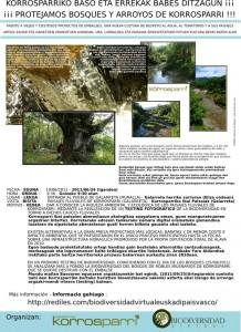 Cartel del testing reivindicativo contra la presa Korrosparri