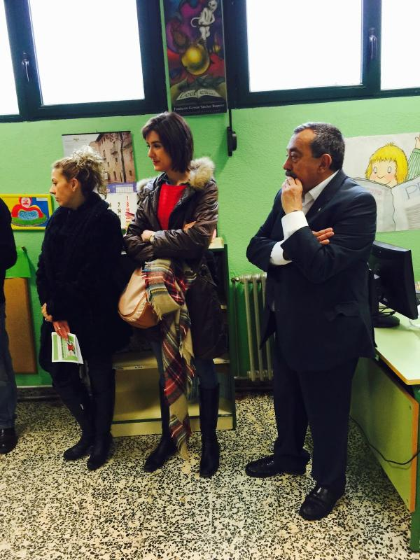 Inauguración Huerto Escolar Ecologico Principe de España de Miranda de Ebro - Alcalde Fernando Campo y Aitana Hernando