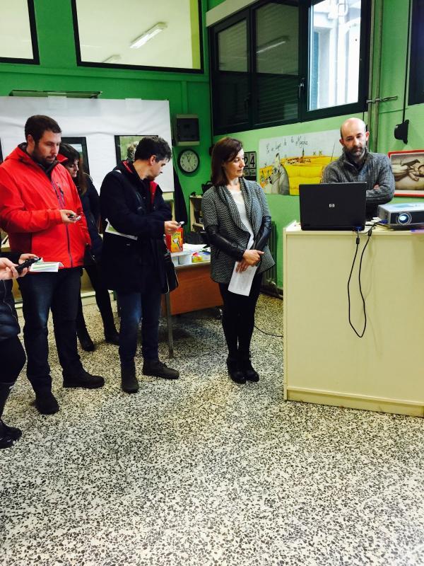 Inauguración Huerto Escolar Ecologico Principe de España de Miranda de Ebro - Directora colegio - Roberto de Miguel