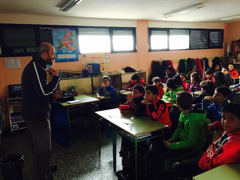 jornadas culturales colegio principe de españa - charla huerto escolar ecologico alumnado 2