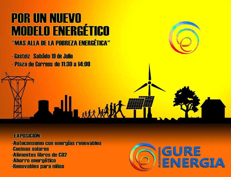 Sábado 19 de julio de 2014 en Vitoria-Gasteiz de 11h30 a 14h en la Plaza de Correos - Asamblea y concentración Por un Nuevo Modelo Energético